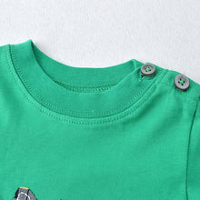 Load image into Gallery viewer, Green Long Sleeve Top with Hedgehog Applique