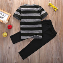 Load image into Gallery viewer, Crown Striped Top & Pants Set
