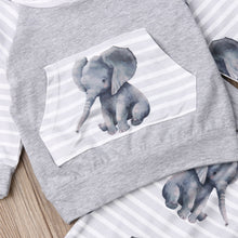Load image into Gallery viewer, Baby Elephant Hoodie and Pants Set
