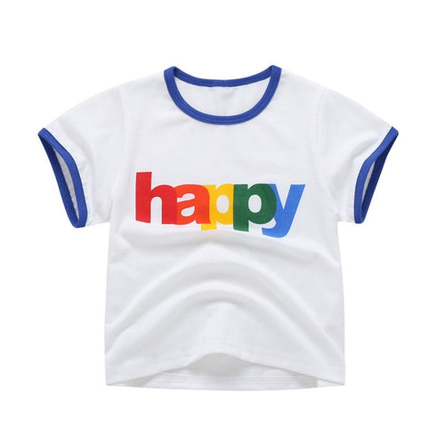Short Sleeve Happy Ringer Tee