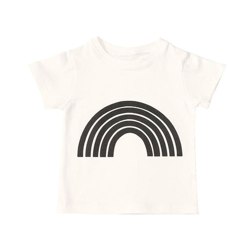 Graphic Print Rainbow Tee