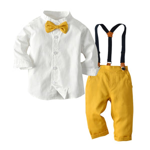 Mandarin Collar Button Down and Pants Set