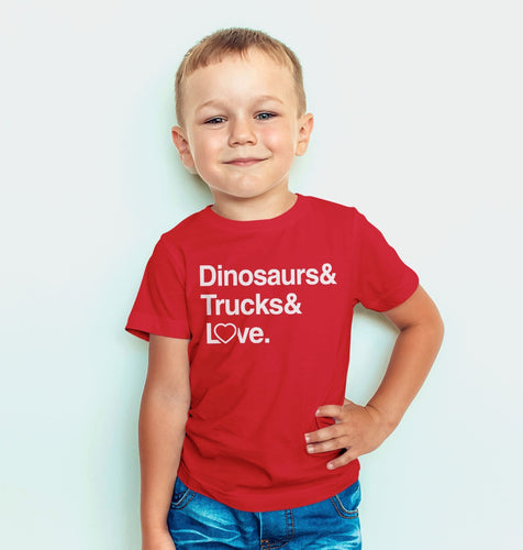 Dinosaurs & Trucks & Love Tee