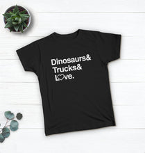 Load image into Gallery viewer, Dinosaurs & Trucks & Love Tee