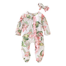 Load image into Gallery viewer, Spring Flowers Romper & Headband
