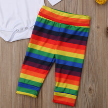 Load image into Gallery viewer, Mama's Rainbow Baby Onesie, Pants & Hat Set