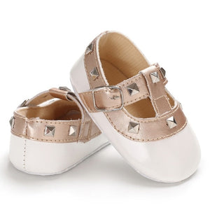 Studded T-Strap Mary Jane Pre-Walkers
