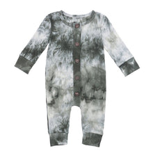 Load image into Gallery viewer, Tie Dye Button Up Romper