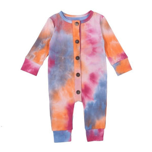 Tie Dye Button Up Romper