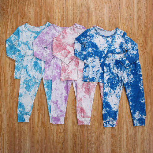 Tie Dye Long Sleeve Top and Jogger Set