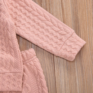 Cozy Cableknit Style Two Piece Set