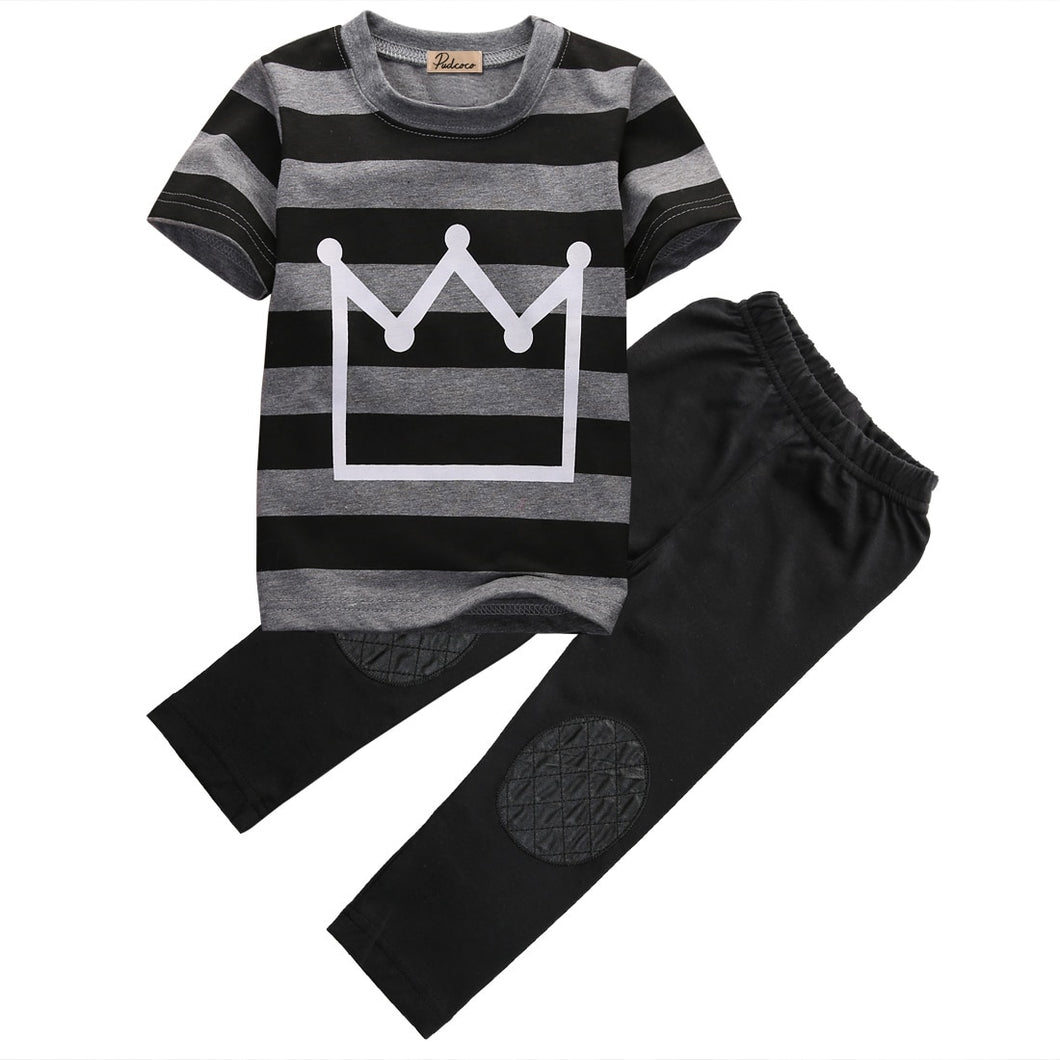 Crown Striped Top & Pants Set