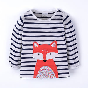 Fox Friend Striped Shirt