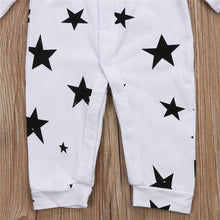 Load image into Gallery viewer, Black and White Star Print Romper