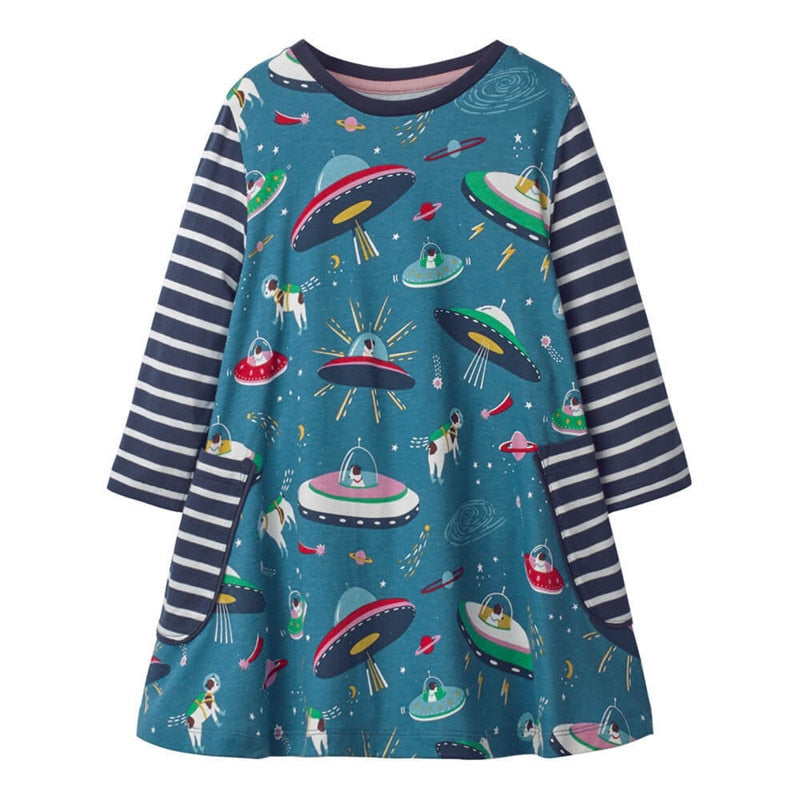 Long Sleeve Flying Saucer Dress