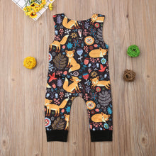 Load image into Gallery viewer, Woodland Fox Print Romper
