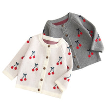 Load image into Gallery viewer, Cherry Motif Cardigan