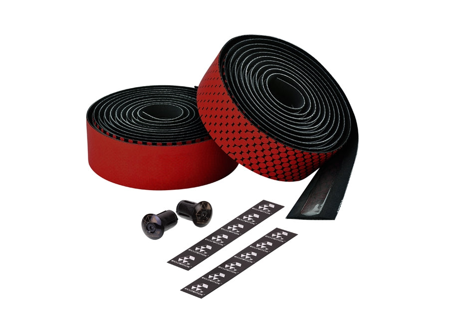 Ciclovation Advanced Bar Tape with Leather Touch - Fusion Series (Red) 3620.22317