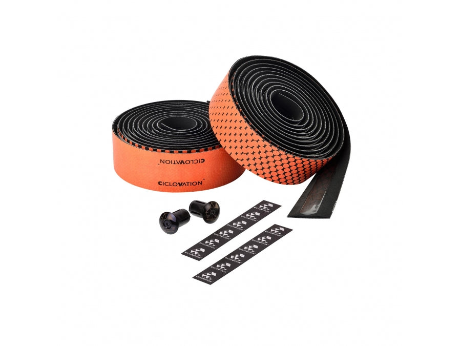 Ciclovation Advanced Bar Tape with Leather Touch - Fusion Series (Orange) 3620.22322