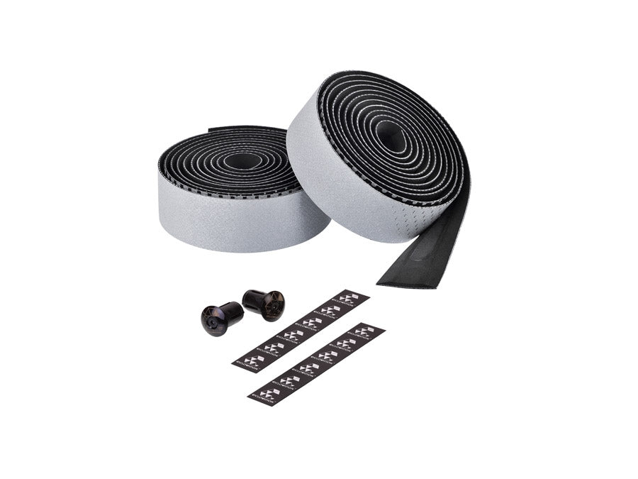 Ciclovation Advanced Bar Tape with Leather Touch - Fusion Series (Reflective Silver) 3620.22314