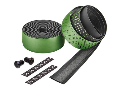 Ciclovation Advanced Bar Tape with Leather Touch - Shining Metalic Green 3620.22342