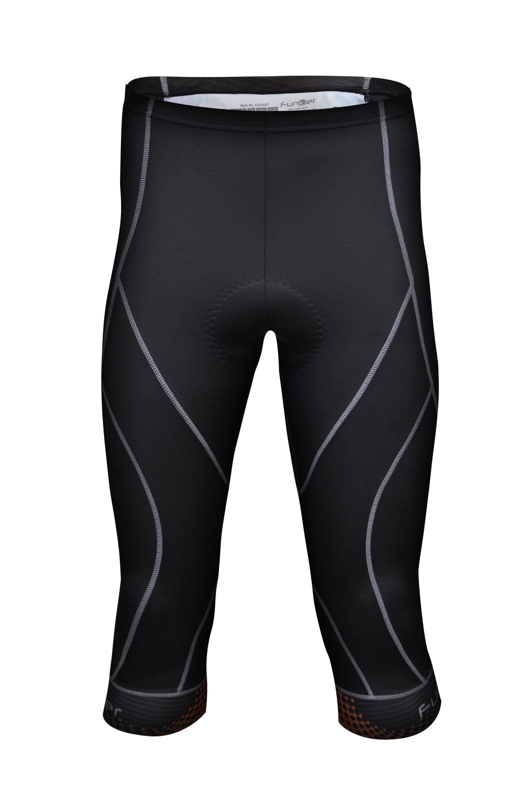 Funkier Men's 3/4 Long Cycling Tights