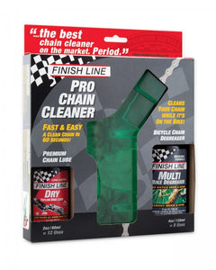 Finish Line Pro Bike Chain Cleaner Kit with Degreaser and Dry Lubricant