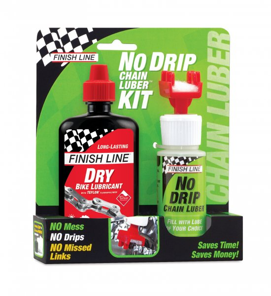 Finish Line No Drip Chain Luber Tool with 4oz Dry Lube