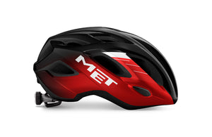 MET Helmet Idolo (Black Red Metallic)