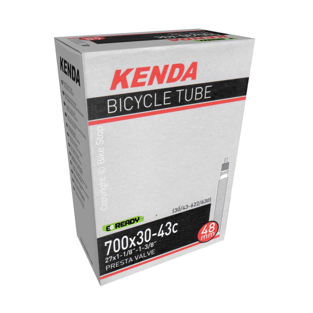 Kenda Bicycle Tire Inner Tube 700c 30/43mm Presta Valve