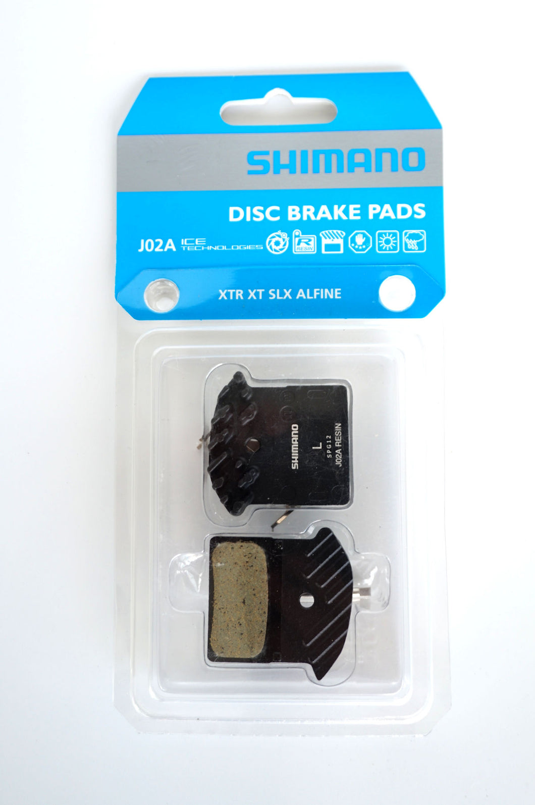Shimano Resin Disc Brake Pads with Fins J02A