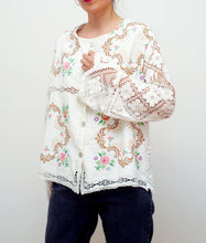 Load image into Gallery viewer, LA COLLECTIONNEUSE EMBROIDERED BLOUSE