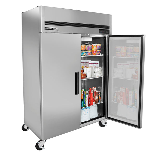 MCFT-49FDHC Reach-In Freezer, Double Door, Top Mount