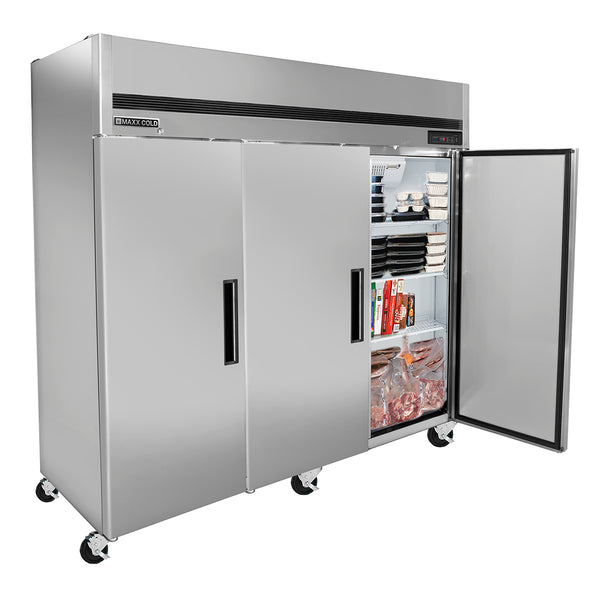 MCFT-72FD Reach-In Freezer, Triple Door, Top Mount