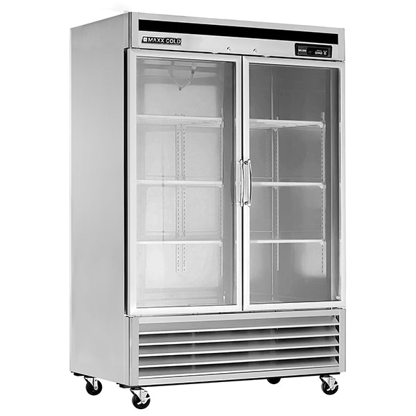 MXCR-49GDHC Reach-In Refrigerator, Glass Door, Bottom Mount