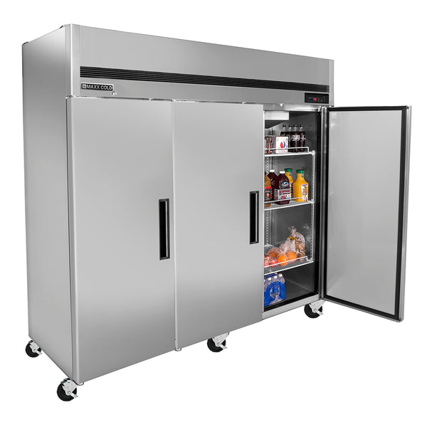 MCR-72FDHC Reach-In Refrigerator, Triple Door, Bottom Mount