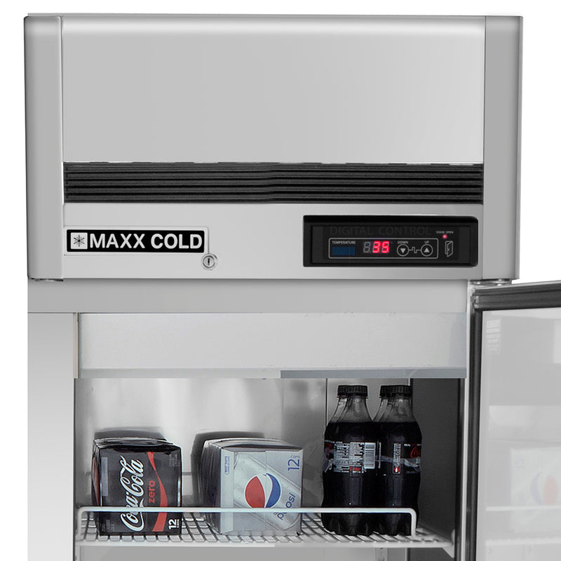 MCRT-23FDHC Reach-In Refrigerator, Single Door, Top Mount