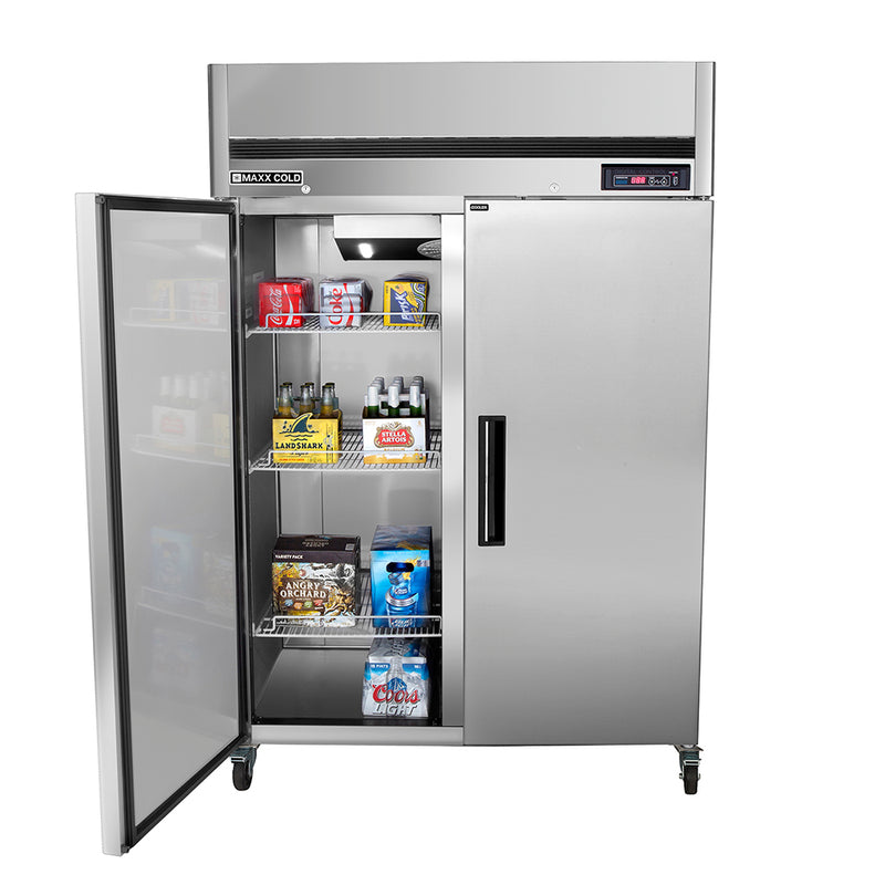 MCRT-49FDHC Reach-In Refrigerator, Double Door, Top Mount