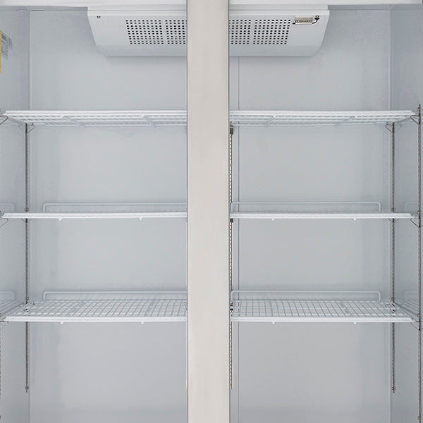 MXCF-49FDHC Reach-In Freezer, Double Door, Top Mount