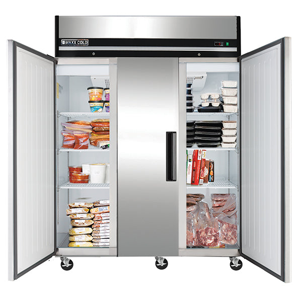 MXCF-72FDHC Reach-In Freezer, Triple Door, Top Mount