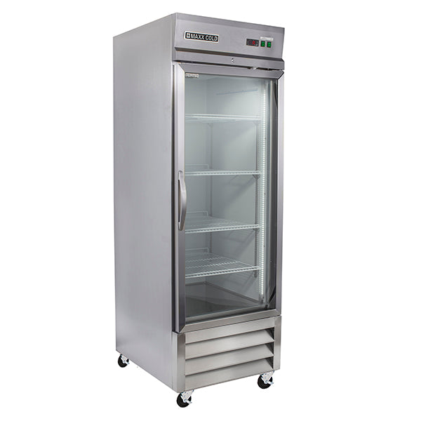 MXCR-23GDHC Reach-In Refrigerator,  Glass Door, Bottom Mount