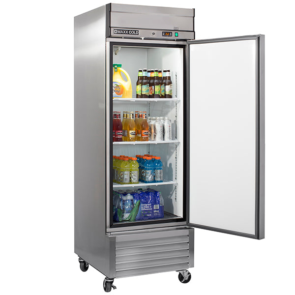 MXSR-23FDHC Reach-In Refrigerator, Single Door, Bottom Mount