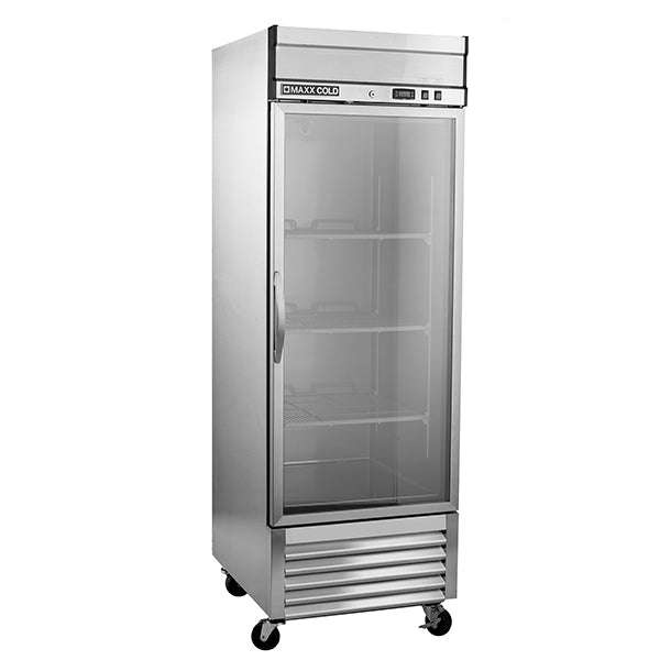 MXSR-23GDHC Reach-In Refrigerator, Single Door, Bottom Mount, Glass