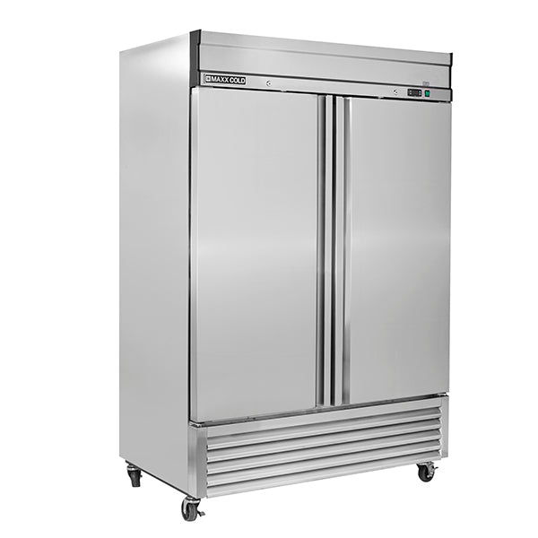 MXSR-49FDHC Reach-In Refrigerator, Double Door, Bottom Mount