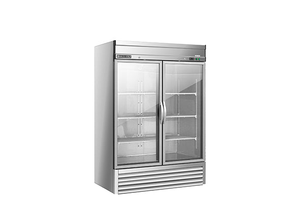 MXSR-49GDHC Reach-In Refrigerator, Double Door, Bottom Mount, Glass