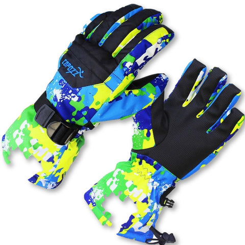COPOZZ Boy Girl Kids Ski Gloves