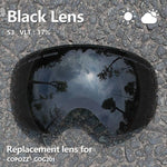 Replacement lens Ski For Goggles GOG-201