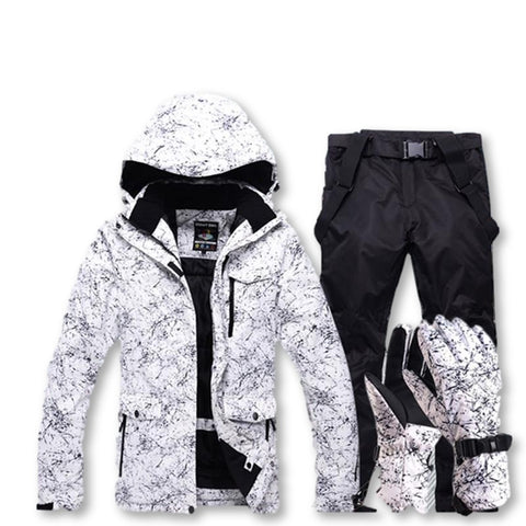 Ski Suit. Pants, Jacket and Gloves