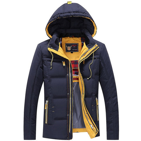 Men Quilted Hooded Jacket