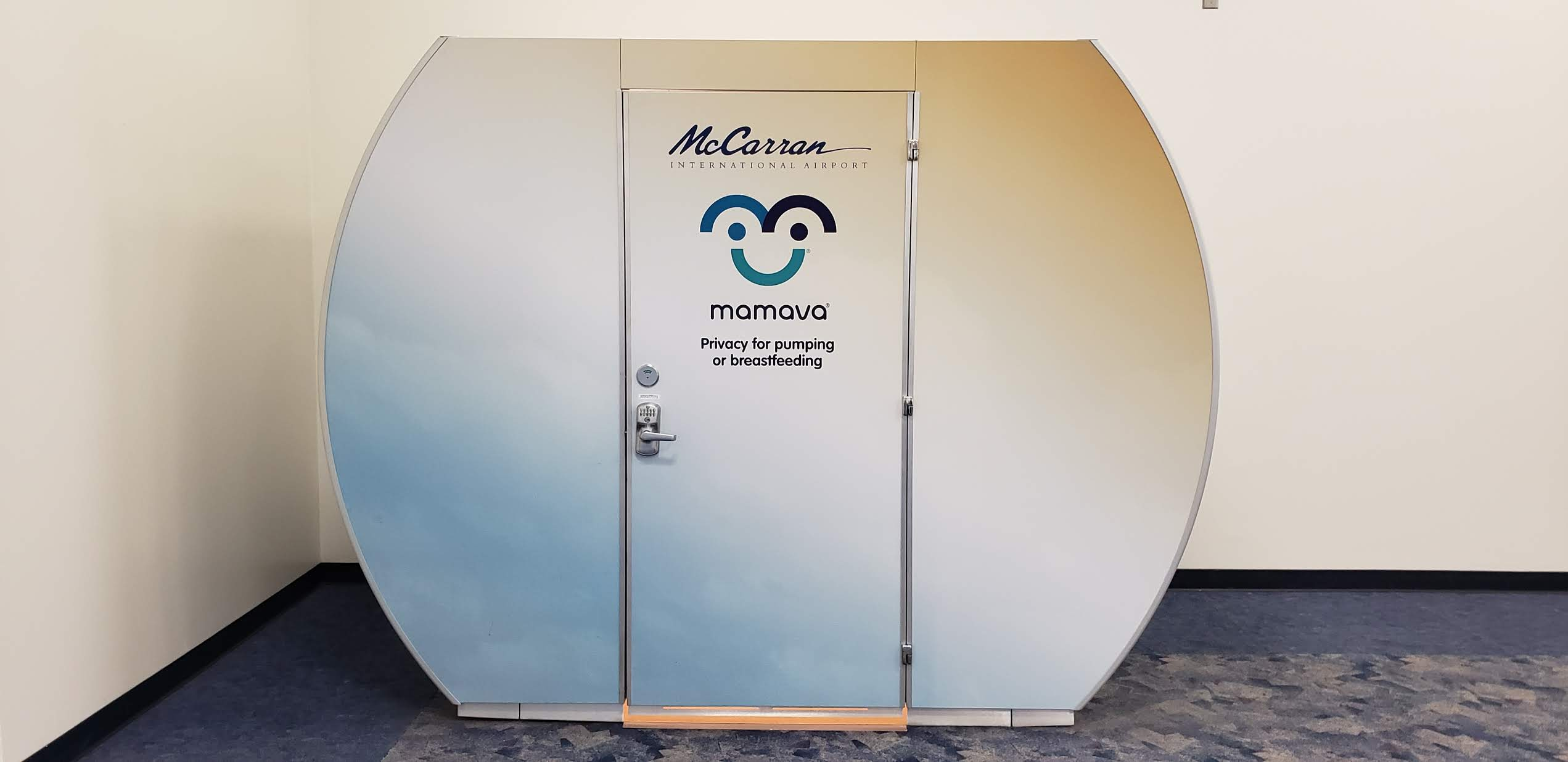 Many airports offer nursing pods